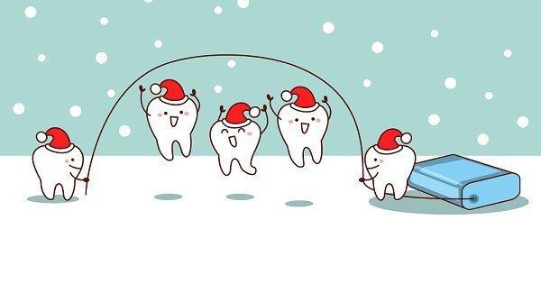 Alimentos sanos de Navidad con salud dental