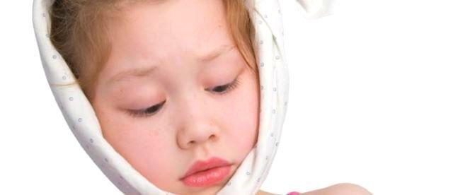 Glandula salival obstruida en ninos